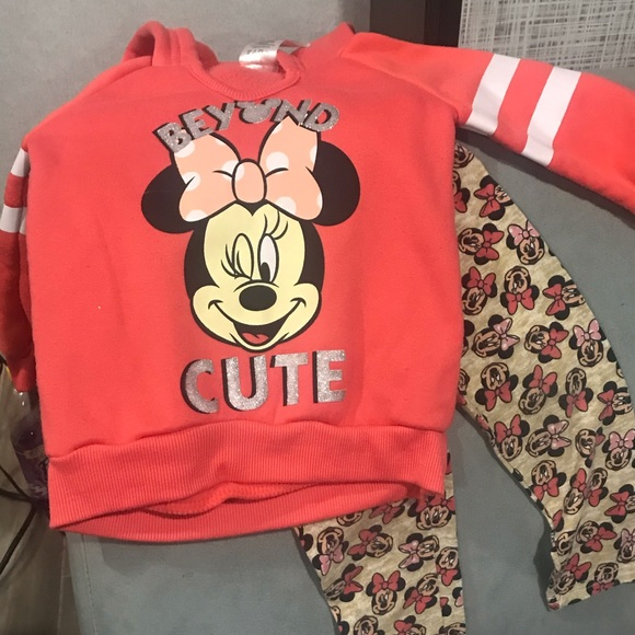 Disney Other - Minnie Mouse hoodie & leggings set